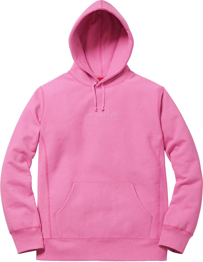 Supreme Tonal Embroidered Hooded Sweatshirt