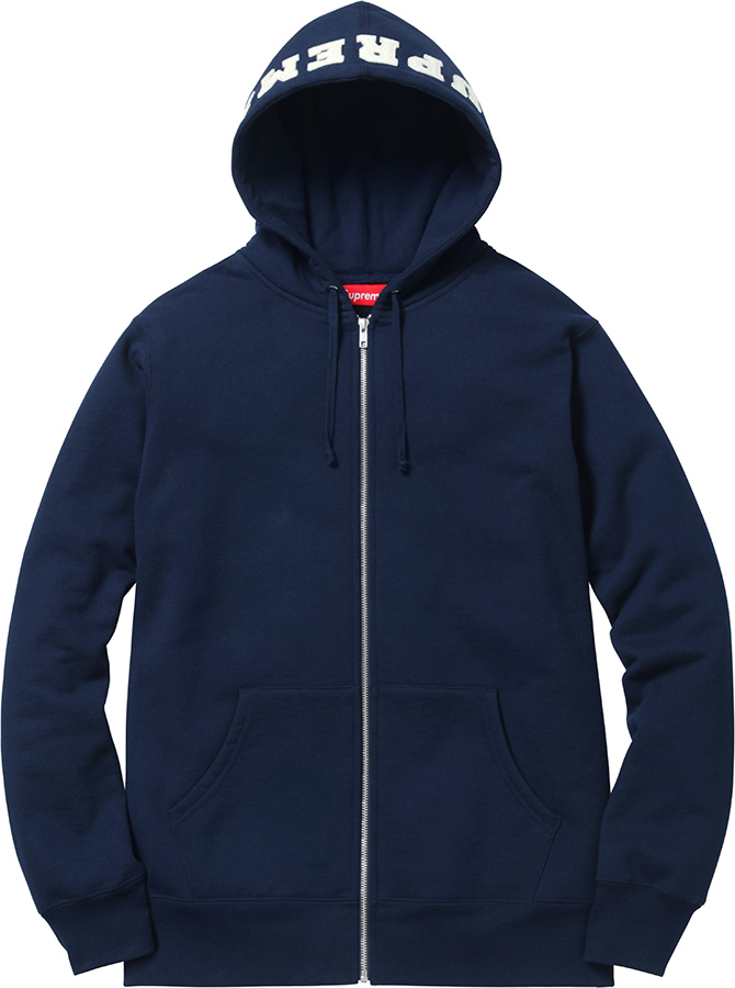 Supreme Felt Hood Logo Zip-Up Sweat
