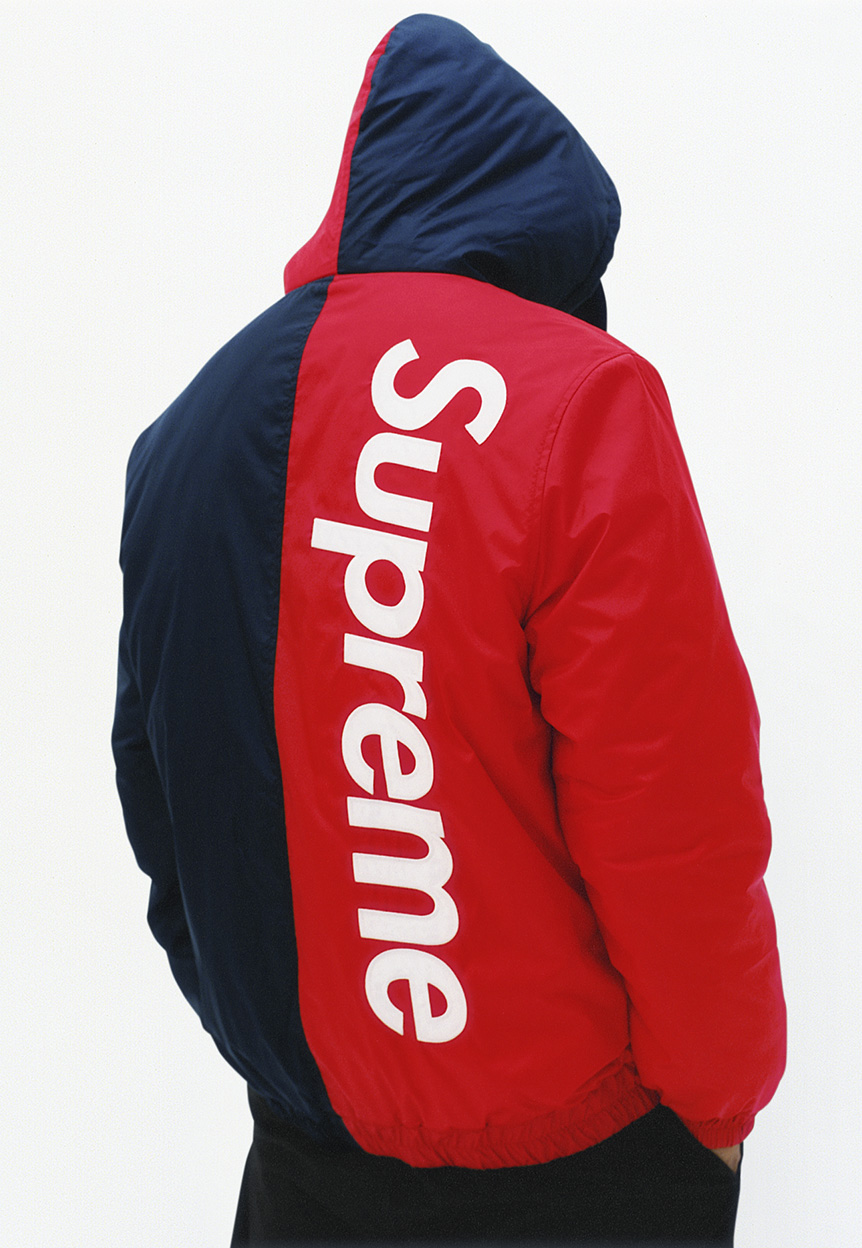 PC  2-Tone Hooded Sideline Jacket (FW15) Red Blue XL   supremeclothing 40d879269