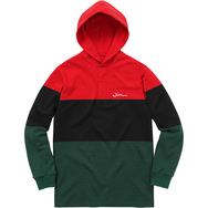 Block Striped Hooded Rugby