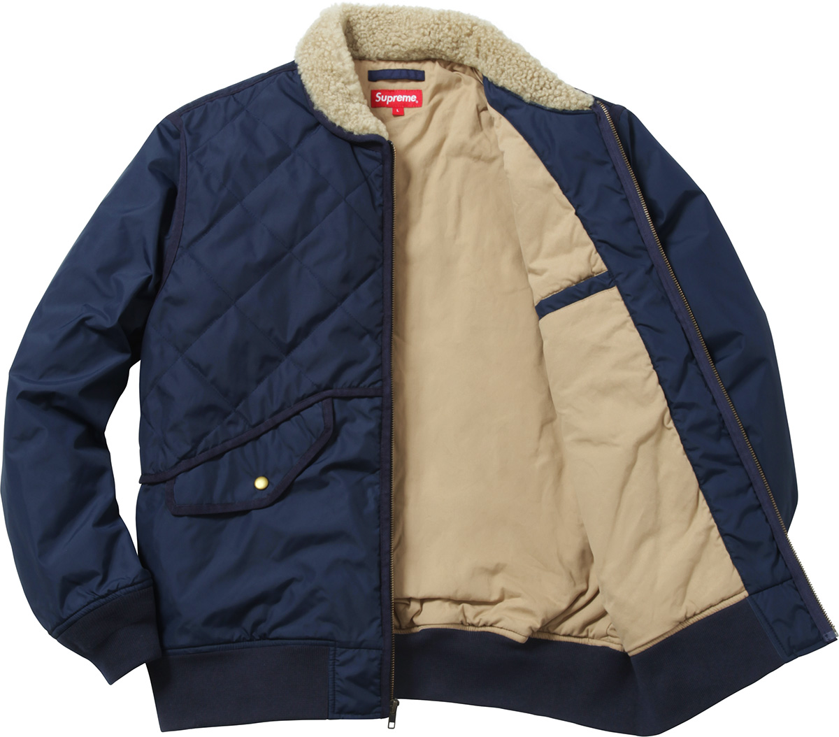 Supreme Quilted Nylon Tanker Jacket : quilted nylon jacket - Adamdwight.com