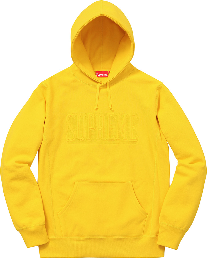 Supreme Embroidered Outline Hooded Sweatshirt