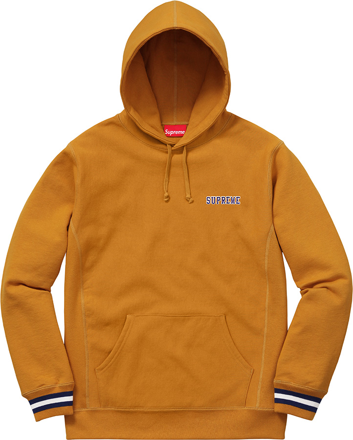 Supreme Striped Cuff Hooded Sweatshirt