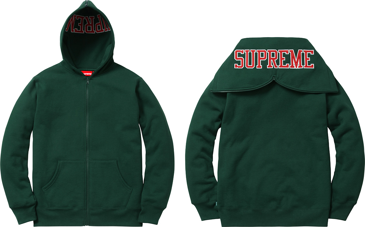 Supreme Split Hood Zip Up Sweat