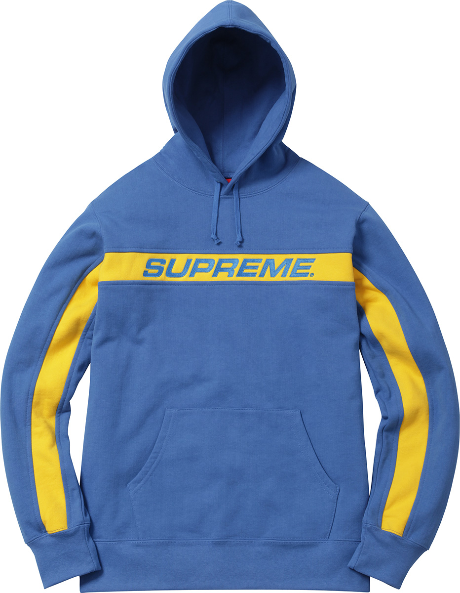 Supreme Stripe Hooded Sweatshirt