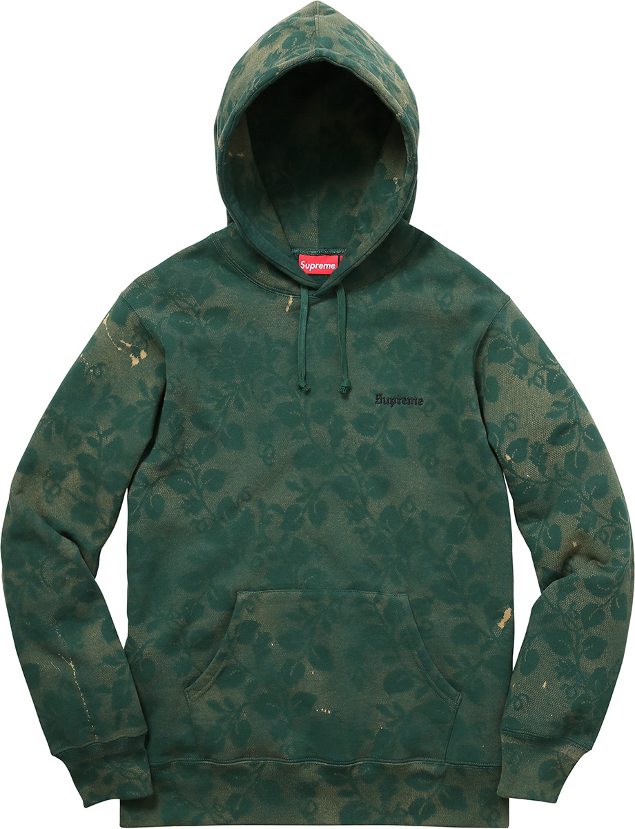 Supreme Bleached Lace Hooded Sweatshirt