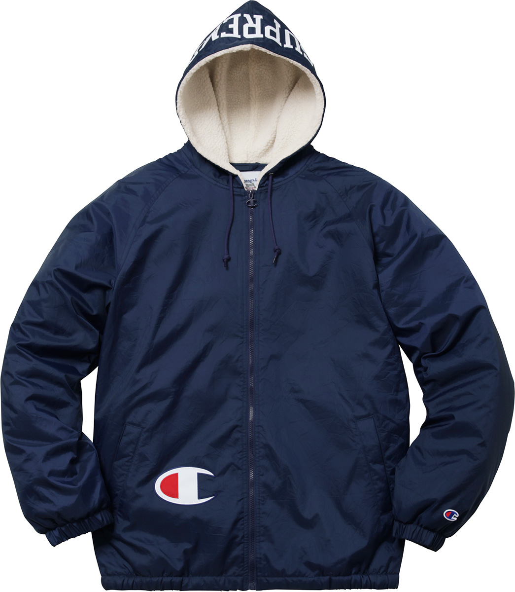 Supreme Supreme®/Champion® Sherpa Lined Hooded Jacket