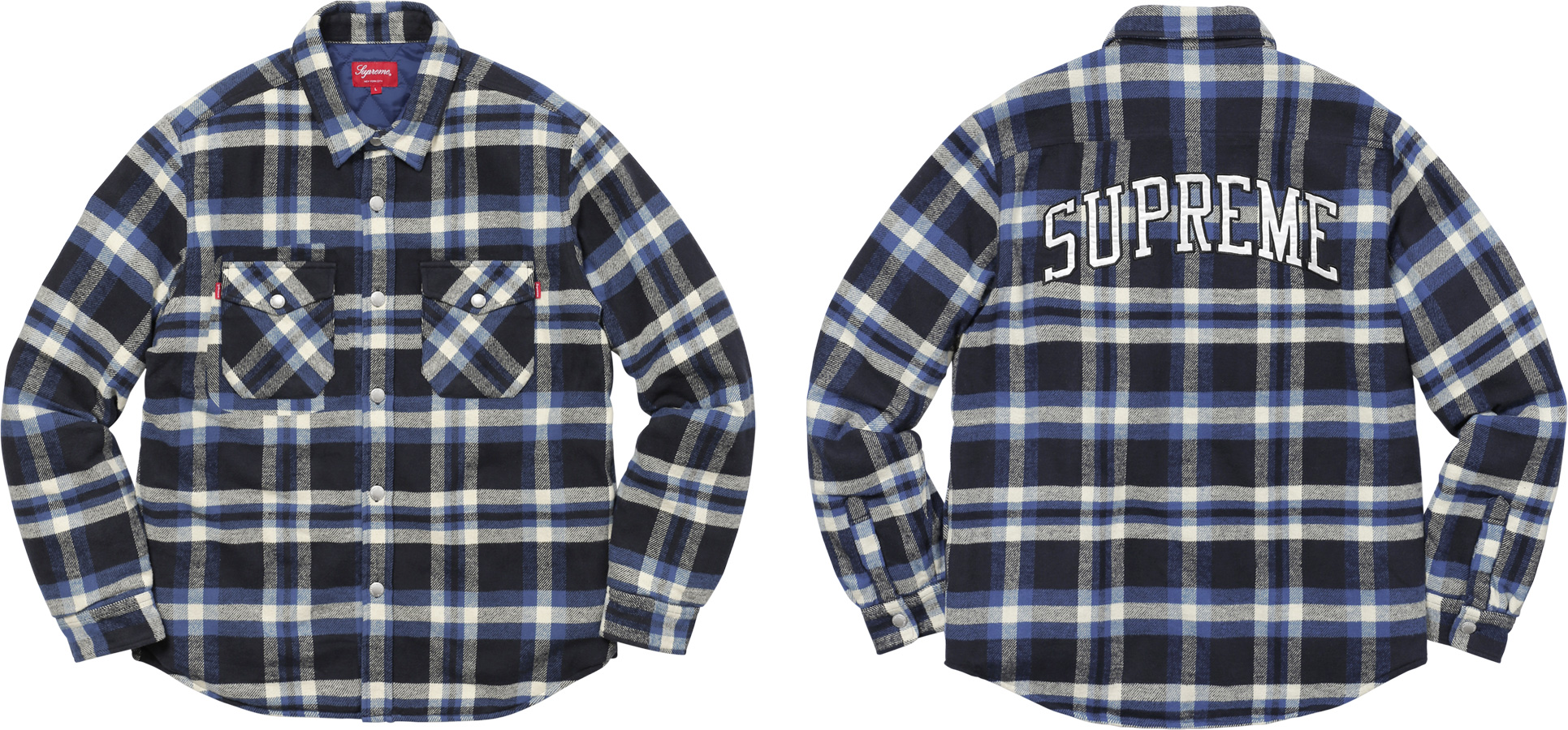 Supreme Quilted Arc Logo Flannel Shirt : quilted flannel shirts - Adamdwight.com