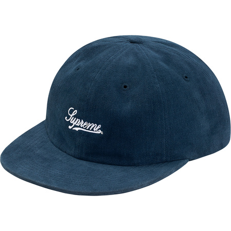 Brushed Twill Script 6-Panel (Navy)