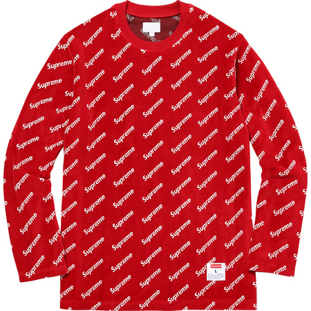Velour Diagonal Logo L/S Top