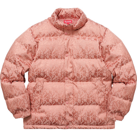 Fuck Jacquard Puffy Jacket
