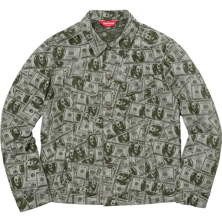 100 Dollar Bill Trucker Jacket