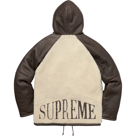 Reversed Shearling Hooded Jacket