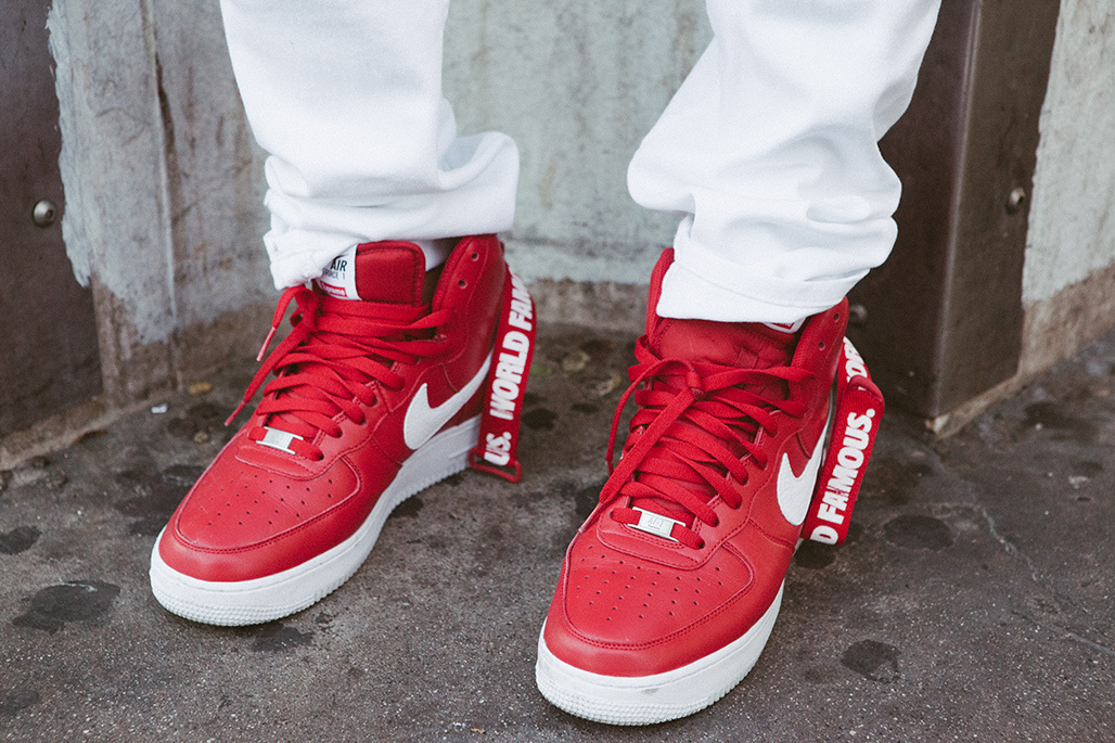 buty nike air force 1 red