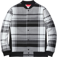 Plaid Snap Front Sweat