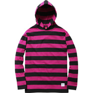 Hooded L/S Striped Tee