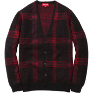 Plaid Mohair Cardigan