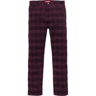Plaid Cord 5-Pocket Pant