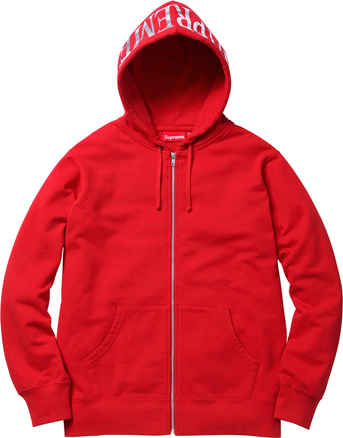Supreme Hooded Foil Logo Zip Up