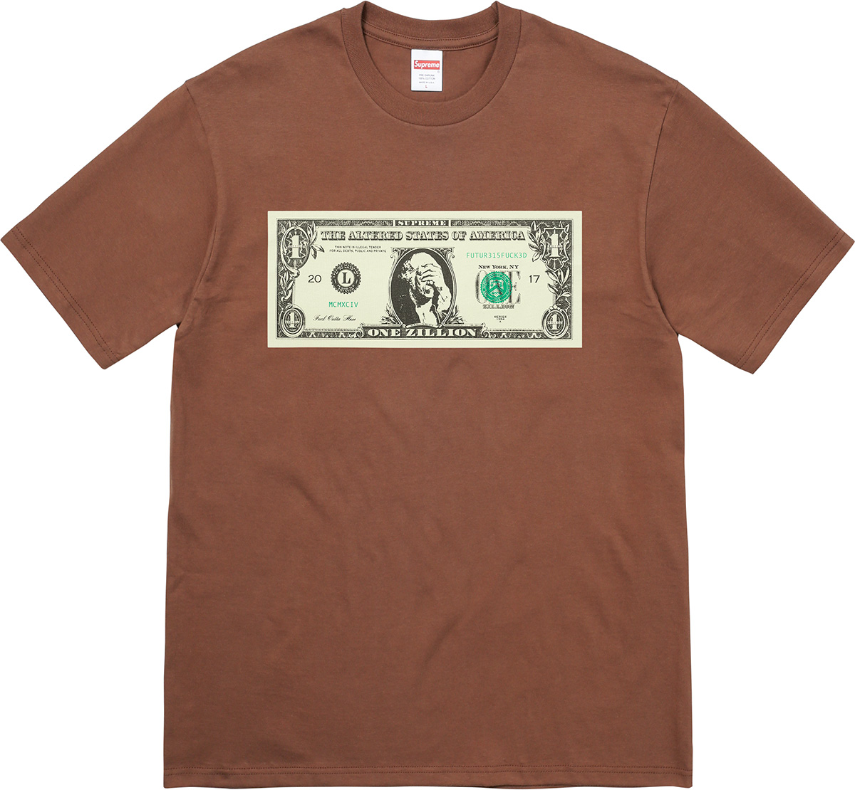 Color Of Spring 2017 Supreme Dollar Tee